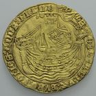 Photo numismatique  MONNAIES BARONNIALES Comté de FLANDRE PHILIPPE LE BON (1419-1467) Noble d'or de la 1ère émission.