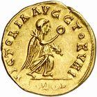 Photo numismatique  ARCHIVES VENTE 2010 -Amateur B 1 et B Chawartz 2 PEUPLES BARBARES BURGONDES Monnayage de GONDEBAUD (473-516) 13- Tremissis au nom d'Anastase (491-518), émis avant 507.