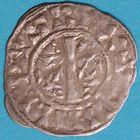 Photo numismatique  MONNAIES ROYALES FRANCAISES PHILIPPE Ier (4 août 1060-29 juillet 1108) Domaine royal Denier de Château-Landon du 1er type.