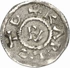 Photo numismatique  ARCHIVES VENTE 2010 -Amateur B 1 et B Chawartz 2 CAROLINGIENS CHARLES LE SIMPLE (28 janvier 893-destitué en 923)  63- Denier de Saint-Nazaire d'Autun (Saône-et-Loire).