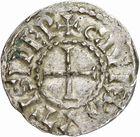 Photo numismatique  ARCHIVES VENTE 2010 -Amateur B 1 et B Chawartz 2 CAROLINGIENS CHARLES LE SIMPLE (28 janvier 893-destitué en 923)  65- Denier d'Auxerre (Yonne).