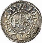 Photo numismatique  ARCHIVES VENTE 2010 -Amateur B 1 et B Chawartz 2 CAROLINGIENS CHARLES, empereur (875-877 - 884-887)  66- Denier de Chalon-sur-Saône (Saône-et-Loire), émis après 875.