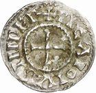 Photo numismatique  ARCHIVES VENTE 2010 -Amateur B 1 et B CHWARTZ 2 CAROLINGIENS CHARLES, empereur (875-877 - 884-887)  67- Denier de Chalon-sur-Saône (Saône-et-Loire), émis après 875.