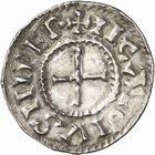 Photo numismatique  ARCHIVES VENTE 2010 -Amateur B 1 et B CHWARTZ 2 CAROLINGIENS CHARLES, empereur (875-877 - 884-887)  68- Denier de Chalon-sur-Saône (Saône-et-Loire), émis après 875.