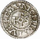 Photo numismatique  ARCHIVES VENTE 2010 -Amateur B 1 et B Chawartz 2 CAROLINGIENS CHARLES, empereur (875-877 - 884-887)  68- Denier de Chalon-sur-Saône (Saône-et-Loire), émis après 875.