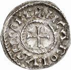 Photo numismatique  ARCHIVES VENTE 2010 -Amateur B 1 et B CHWARTZ 2 CAROLINGIENS CHARLES, empereur (875-877 - 884-887)  69- Denier de Chalon-sur-Saône (Saône-et-Loire), émis après 875.