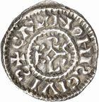 Photo numismatique  ARCHIVES VENTE 2010 -Amateur B 1 et B Chawartz 2 CAROLINGIENS CHARLES, empereur (875-877 - 884-887)  69- Denier de Chalon-sur-Saône (Saône-et-Loire), émis après 875.