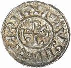 Photo numismatique  ARCHIVES VENTE 2010 -Amateur B 1 et B Chawartz 2 CAROLINGIENS CHARLES, empereur (875-877 - 884-887)  72- Denier de Chalon-sur-Saône (Saône-et-Loire), émis après 875.