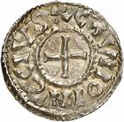 Photo numismatique  ARCHIVES VENTE 2010 -Amateur B 1 et B CHWARTZ 2 CAROLINGIENS CHARLES, empereur (875-877 - 884-887)  72- Denier de Chalon-sur-Saône (Saône-et-Loire), émis après 875.