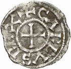 Photo numismatique  ARCHIVES VENTE 2010 -Amateur B 1 et B Chawartz 2 CAROLINGIENS CHARLES LE SIMPLE (28 janvier 893-destitué en 923)  73- Oble de Châlon-sur-Saône (Saône-et-Loire).