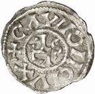 Photo numismatique  ARCHIVES VENTE 2010 -Amateur B 1 et B CHWARTZ 2 CAROLINGIENS CHARLES LE SIMPLE (28 janvier 893-destitué en 923)  73- Oble de Châlon-sur-Saône (Saône-et-Loire).