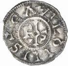 Photo numismatique  ARCHIVES VENTE 2010 -Amateur B 1 et B Chawartz 2 CAROLINGIENS CHARLES LE SIMPLE (28 janvier 893-destitué en 923)  74- Denier de Châlon-sur-Saône (Saône-et-Loire).