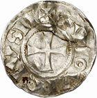 Photo numismatique  ARCHIVES VENTE 2010 -Amateur B 1 et B CHWARTZ 2 CAROLINGIENS LOUIS IV D'OUTREMER (936-954)  75- Denier de Chalon-sur-Saône (Saône-et-Loire).