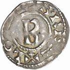 Photo numismatique  ARCHIVES VENTE 2010 -Amateur B 1 et B Chawartz 2 CAROLINGIENS LOTHAIRE II (954-986)  77- Denier de Chalon-sur-Saône (Saône-et-Loire).