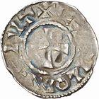 Photo numismatique  ARCHIVES VENTE 2010 -Amateur B 1 et B CHWARTZ 2 CAROLINGIENS LOTHAIRE II (954-986)  77- Denier de Chalon-sur-Saône (Saône-et-Loire).