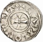 Photo numismatique  ARCHIVES VENTE 2010 -Amateur B 1 et B Chawartz 2 CAROLINGIENS LOTHAIRE II (954-986)  78- Denier de Chalon-sur-Saône (Saône-et-Loire).