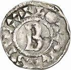 Photo numismatique  ARCHIVES VENTE 2010 -Amateur B 1 et B Chawartz 2 CAROLINGIENS LOTHAIRE II (954-986)  79- Denier de Chalon-sur-Saône (Saône-et-Loire).