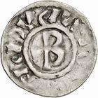 Photo numismatique  ARCHIVES VENTE 2010 -Amateur B 1 et B CHWARTZ 2 CAROLINGIENS LOTHAIRE II (954-986)  80- Denier de Chalon-sur-Saône (Saône-et-Loire).