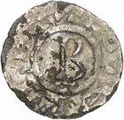 Photo numismatique  ARCHIVES VENTE 2010 -Amateur B 1 et B Chawartz 2 CAROLINGIENS LOTHAIRE II (954-986)  81- Denier faux d'époque de Chalon-sur-Saône (Saône-et-Loire).