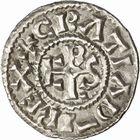 Photo numismatique  ARCHIVES VENTE 2010 -Amateur B 1 et B Chawartz 2 CAROLINGIENS CHARLES LE CHAUVE, roi (840-875) Monnayage au type GDR, après 864 82- Denierde Dijon (Côte -d'Or).