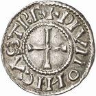 Photo numismatique  ARCHIVES VENTE 2010 -Amateur B 1 et B CHWARTZ 2 CAROLINGIENS CHARLES LE CHAUVE, roi (840-875) Monnayage au type GDR, après 864 82- Denierde Dijon (Côte -d'Or).