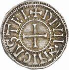 Photo numismatique  ARCHIVES VENTE 2010 -Amateur B 1 et B CHWARTZ 2 CAROLINGIENS CHARLES LE CHAUVE, roi (840-875) Monnayage au type GDR, après 864 83- Denierde Dijon (Côte -d'Or).
