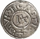 Photo numismatique  ARCHIVES VENTE 2010 -Amateur B 1 et B Chawartz 2 CAROLINGIENS RAOUL (13 juillet 923-janvier 936)  85- Denier de Dijon (Côte -d'Or).