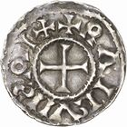 Photo numismatique  ARCHIVES VENTE 2010 -Amateur B 1 et B Chawartz 2 CAROLINGIENS RAOUL (13 juillet 923-janvier 936)  86- Denier de Dijon (Côte -d'Or).