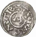 Photo numismatique  ARCHIVES VENTE 2010 -Amateur B 1 et B Chawartz 2 CAROLINGIENS RAOUL (13 juillet 923-janvier 936)  87- Denier de Dijon (Côte -d'Or).
