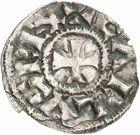 Photo numismatique  ARCHIVES VENTE 2010 -Amateur B 1 et B Chawartz 2 CAROLINGIENS CHARLES LE SIMPLE (28 janvier 893-destitué en 923)  88- Denier de Mâcon (Saône-et-Loire).