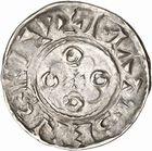Photo numismatique  ARCHIVES VENTE 2010 -Amateur B 1 et B CHWARTZ 2 CAROLINGIENS LOTHAIRE II (954-986)  90- Denier de Mâcon (Saône-et-Loire).