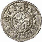 Photo numismatique  ARCHIVES VENTE 2010 -Amateur B 1 et B Chawartz 2 CAROLINGIENS CARLOMAN (879-884)  91- Denier du Mont-Lassois (Côte-d'Or).