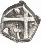 Photo numismatique  ARCHIVES VENTE 2010 -Amateur B 1 et B Chawartz 2 IBERIE- GAULE - CELTES VOLQUES TECTOSAGES (région de Toulouse)  100- Drachme au type initial « à la tête cubiste », série 1.