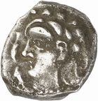 Photo numismatique  ARCHIVES VENTE 2010 -Amateur B 1 et B Chawartz 2 IBERIE- GAULE - CELTES VOLQUES TECTOSAGES (région de Toulouse)  101- Drachme au type « cubiste romanisé », série 13.