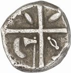 Photo numismatique  ARCHIVES VENTE 2010 -Amateur B 1 et B Chawartz 2 IBERIE- GAULE - CELTES VOLQUES TECTOSAGES (région de Toulouse)  102- Drachme au type « cubiste romanisé », série 13.
