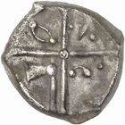 Photo numismatique  ARCHIVES VENTE 2010 -Amateur B 1 et B Chawartz 2 IBERIE- GAULE - CELTES VOLQUES TECTOSAGES (région de Toulouse)  103- Drachme au type « cubiste plus romanisé », série 14.
