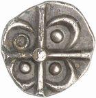 Photo numismatique  ARCHIVES VENTE 2010 -Amateur B 1 et B CHWARTZ 2 GAULE - CELTES VOLQUES TECTOSAGES (région de Toulouse)  104- Drachme au type « à la tête négroïde », série 2.