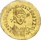 Photo numismatique  ARCHIVES VENTE 2010 -Amateur B 1 et B CHWARTZ 2 PEUPLES BARBARES PSEUDO-IMPERIALES Au nom de THEODOSE II (408-450) 112- Solidus imitation occidentale (balkanique) ?