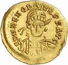 Photo numismatique  ARCHIVES VENTE 2010 -Amateur B 1 et B Chawartz 2 PEUPLES BARBARES OSTROGOTHS Epoque d'ODOACRE (476-493) 116- Solidus au nom de Zénon (474-491), frappé à Rome.