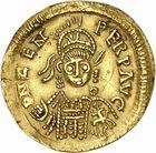 Photo numismatique  ARCHIVES VENTE 2010 -Amateur B 1 et B Chawartz 2 PEUPLES BARBARES OSTROGOTHS Epoque d'ODOACRE (476-493) 118- Solidus au nom de Zénon (474-491), frappé en Sardaigne ?