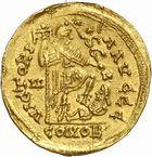 Photo numismatique  ARCHIVES VENTE 2010 -Amateur B 1 et B CHWARTZ 2 PEUPLES BARBARES SUEVES Au nom d'HONORIUS, empereur (393-423) 131- Solidus