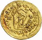 Photo numismatique  ARCHIVES VENTE 2010 -Amateur B 1 et B CHWARTZ 2 PEUPLES BARBARES SUEVES Au nom d'HONORIUS, empereur (393-423) 132- Solidus