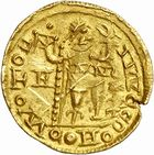 Photo numismatique  ARCHIVES VENTE 2010 -Amateur B 1 et B CHWARTZ 2 PEUPLES BARBARES SUEVES Au nom d'HONORIUS, empereur (393-423) 133-Solidus émis à Braga