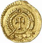 Photo numismatique  ARCHIVES VENTE 2010 -Amateur B 1 et B CHWARTZ 2 PEUPLES BARBARES SUEVES Au nom d'HONORIUS, empereur (393-423) 134- Tremissis émis à Braga