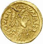Photo numismatique  ARCHIVES VENTE 2010 -Amateur B 1 et B Chawartz 2 PEUPLES BARBARES SUÈVES Au nom de VALENTINIEN III, empereur (423-455) 137-Tremissis émis à Rusticiana.