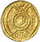 Photo numismatique  ARCHIVES VENTE 2010 -Amateur B 1 et B CHWARTZ 2 PEUPLES BARBARES SUEVES Au nom de VALENTINIEN III, empereur (423-455) 137-Tremissis émis à Rusticiana.