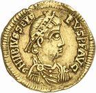 Photo numismatique  ARCHIVES VENTE 2010 -Amateur B 1 et B CHWARTZ 2 PEUPLES BARBARES VISIGOTHS Epoque d'EURIC (466-484), roi de Toulouse 147- Solidus au nom de Libius Severus (461-466)