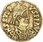 Photo numismatique  ARCHIVES VENTE 2010 -Amateur B 1 et B Chawartz 2 PEUPLES BARBARES VISIGOTHS Epoque d'EURIC (466-484), roi de Toulouse 149- Triens au nom de Libius Severus (461-466), émis à Bourges ou Clermont ?