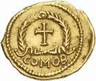 Photo numismatique  ARCHIVES VENTE 2010 -Amateur B 1 et B CHWARTZ 2 PEUPLES BARBARES VISIGOTHS Epoque d'EURIC (466-484), roi de Toulouse 152-Tremissis au nom de Zénon (474-491), imitation du monnayage de Julius Népos à Rome.