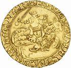 Photo numismatique  ARCHIVES VENTE 2010 -Amateur B 1 et B Chawartz 2 BARONNIALES Duché de BRETAGNE FRANCOIS Ier (1442-1450) 240- Cavalier d'or frappé à Rennes